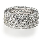 5.00CT Round Cut Diamonds Eternity Ring