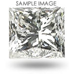0.9CT Princess Cut F/SI1 Loose Diamond
