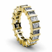5.50CT Emerald Cut Diamonds Eternity Band
