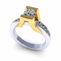 0.80CT Round Cut Diamonds Solitaire Ring