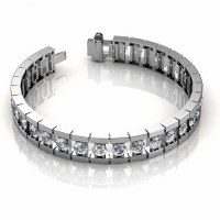 2.00CT Diamonds Bracelet In 14KT White Gold