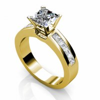 1.25CT Princess Cut Diamonds Engagement Ring