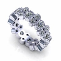 1.70CT Round Cut Diamonds Eternity Band