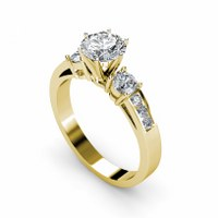 1.15CT Round  Diamonds Engagement Ring
