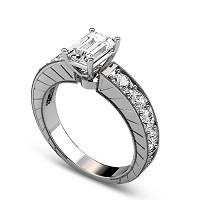 1.20CT Round Cut Diamonds Engagement Ring
