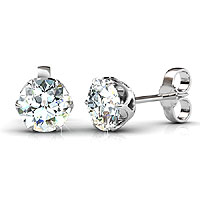 0.25CT Total Weight Diamond Stud Earrings with 14KT White Gold