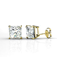 14KT Yellow Gold 0.25CT Diamond Stud Earrings