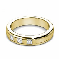 0.40CT Princess Cut Diamonds Men's Wedding Band