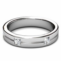 0.75CT Princess Cut Diamonds Men's Wedding Band
