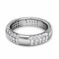 1.50CT Round Cut Diamonds Men's Wedding Band