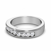 0.65CT Round Cut Diamonds Men's Wedding Band