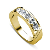 0.60CT Round Cut Diamonds Men's Wedding Band