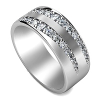 0.80CT Round Cut Diamonds Men's Wedding Band