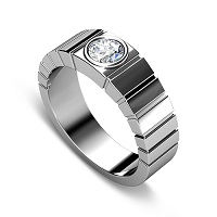 0.40CT Round Cut Diamonds Men's Wedding Band
