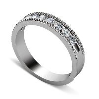 0.55CT Round Cut Diamonds Men's Wedding Band