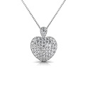 3.00CT Round Cut Diamonds Platinum Heart Pendant
