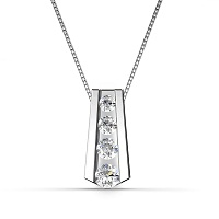 0.65CT Of I-J Color and VS2-SI1 Clarity 14KT White Gold Round Cut Diamond Pendant