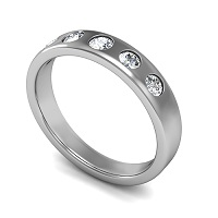 0.75CT Round Cut Diamonds Men's Wedding Band