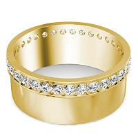 1.00CT Round Cut Diamonds Men's Wedding Band