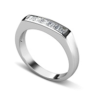 1.00CT Princess Cut Diamonds Mens Wedding Band
