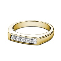 1.00CT Princess Cut Diamonds Men's Wedding Band