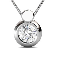 0.25CT Round Cut Diamonds Solitaire Pendant