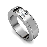 0.65CT Princess Cut Diamonds Men's Wedding Band