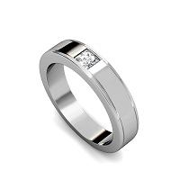 0.20CT Princess Cut Diamond Wedding Band