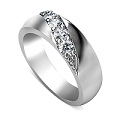 0.30CT Round Cut Diamonds Men's Wedding Band