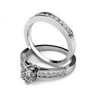 1.80CT Round Cut Diamond Bridal Set