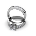 2.80CT Princess Cut Diamond Bridal Set