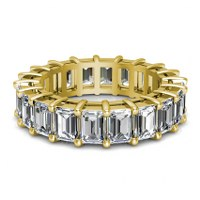 5.00CT Emerald Cut Diamonds Eternity Ring