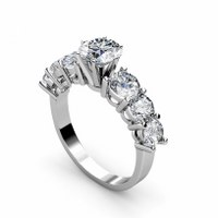 1.95CT Round Cut Diamonds Engagement Ring