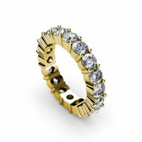 4.10CT round cut diamonds eternity ring